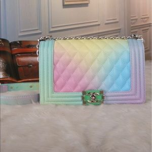 Chanel rainbow bag